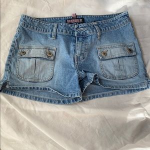 Bubblegum jean shorts